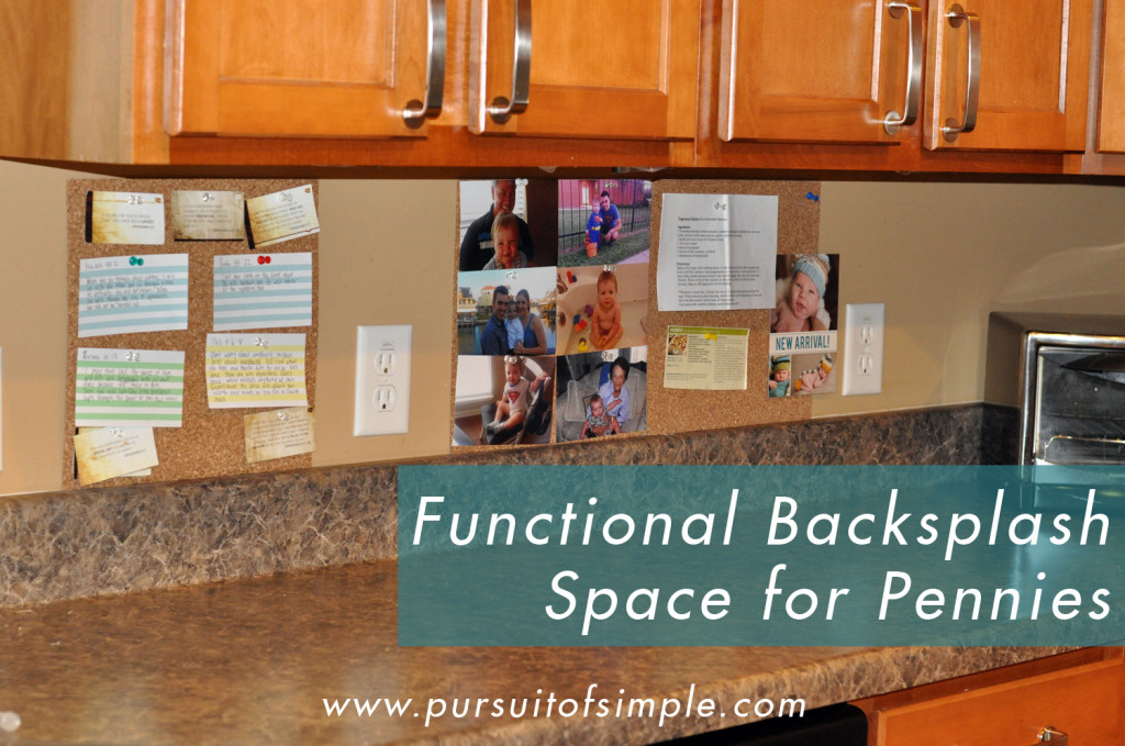 Making Functional Use of Backsplash
