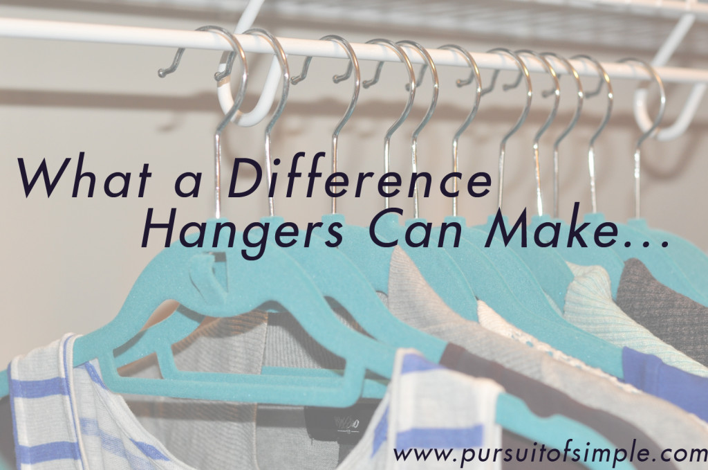 What a Difference Hangers Can Make