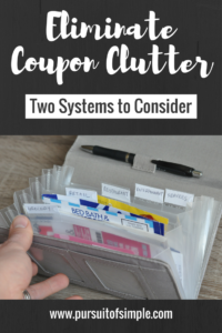 Eliminate Coupon Clutter: Two Systems to Consider
