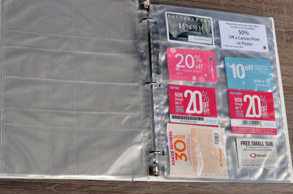 The coupon binder holds a lot of coupons of varying sizes, and it's very easy to visually see what coupons you have as you flip through it.