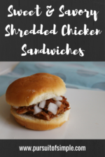 Sweet & Savory Shredded Chicken Sandwiches