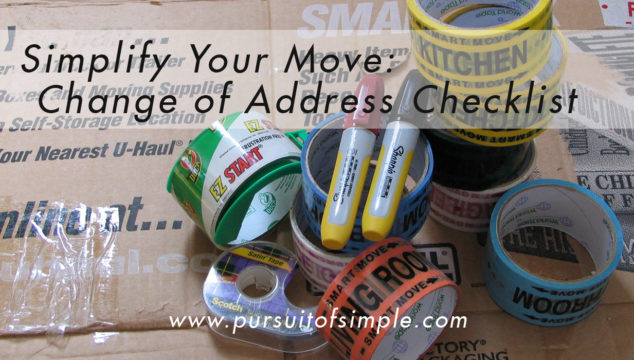 Simplify Your Move: Change of Address Checklist