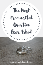 The Best Premarital Question Ever Asked