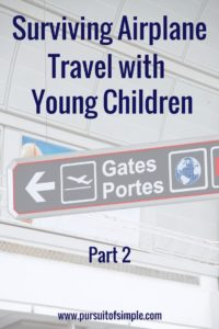 Surviving Airplane Travel with Young Children – Part 2