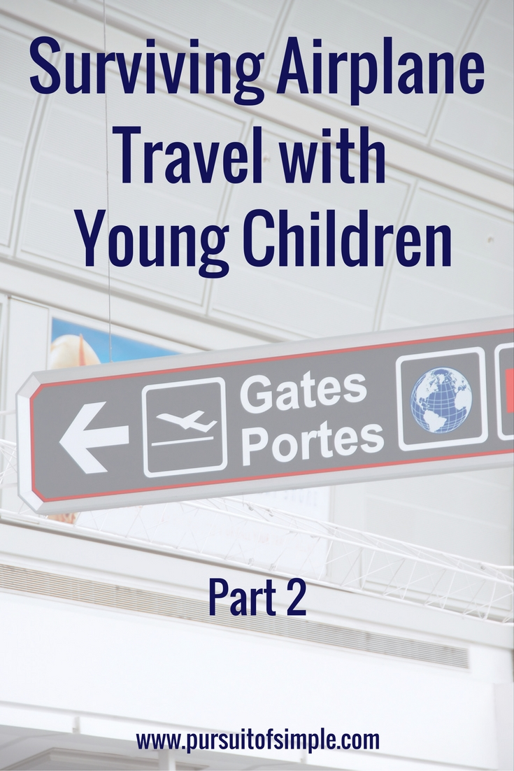 Surviving Airplane Travel with Young Children - Part 2