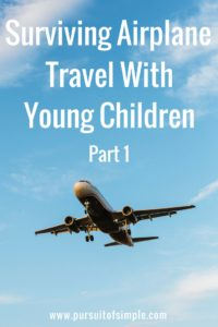 Surviving Airplane Travel with Young Children – Part 1