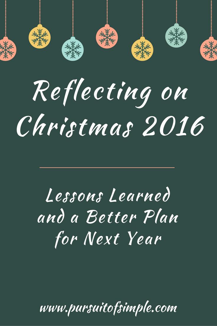 Reflecting on Christmas 2016