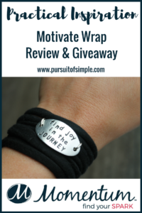 Practical Inspiration: Motivate Wrap Review & Giveaway