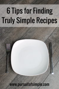 6 Tips for Finding Truly Simple Recipes